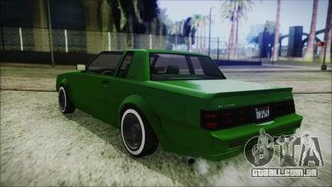 GTA 5 Willard Faction Custom para GTA San Andreas traseira esquerda vista