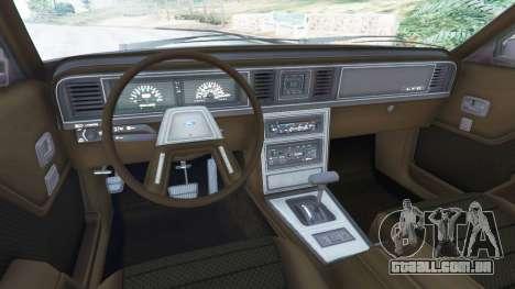 GTA 5 Ford LTD LX 1985 vista lateral direita