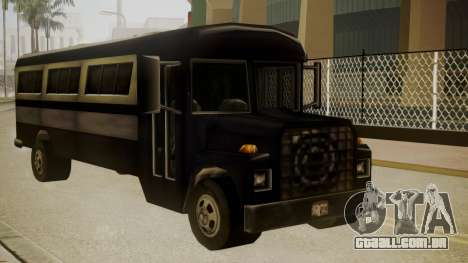 Bus III para GTA San Andreas traseira esquerda vista