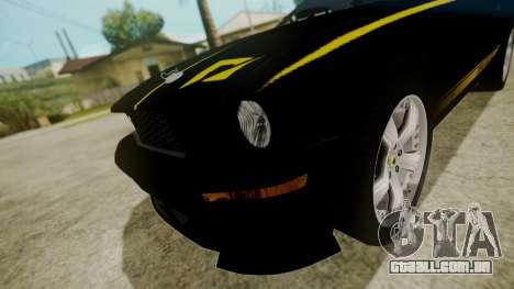 Ford Mustang Shelby Terlingua para GTA San Andreas vista traseira
