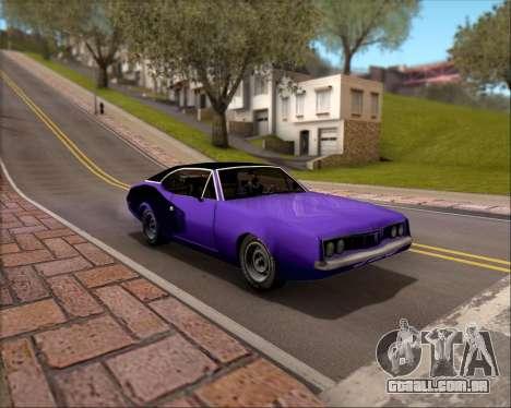 Clover Barracuda para GTA San Andreas vista superior