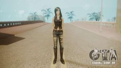 Tifa Black para GTA San Andreas segunda tela