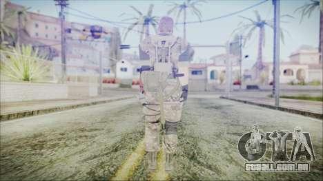 MGSV Phantom Pain Snake Scarf Olive Drab para GTA San Andreas terceira tela