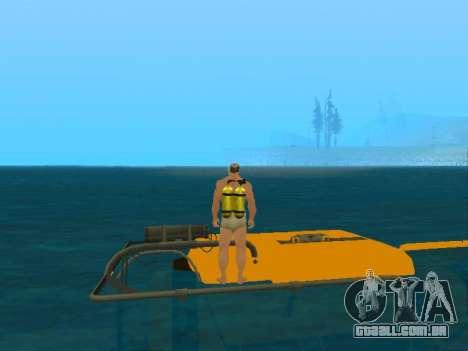 Submersível de GTA V para vista lateral GTA San Andreas