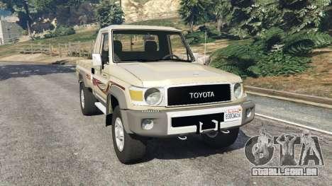Toyota Land Cruiser LX Pickup 2016 para GTA 5