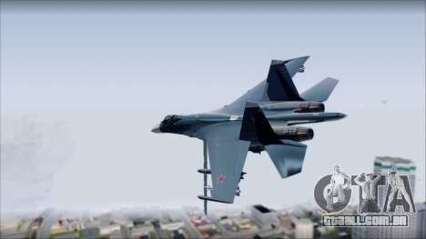SU-35 Russian Air Force Modern Livery para GTA San Andreas esquerda vista