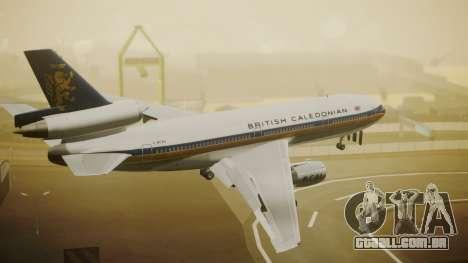 McDonnell-Douglas DC-10-30 British Caledonian para GTA San Andreas esquerda vista