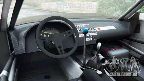 GTA 5 Nissan Silvia S13 v1.2 [without livery] traseira direita vista lateral