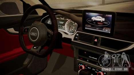Audi RS7 X-UK L3D para GTA San Andreas vista direita