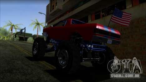 GTA 5 Cheval Marshall IVF para GTA San Andreas traseira esquerda vista