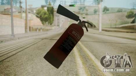 GTA 5 Fire Extinguisher para GTA San Andreas segunda tela