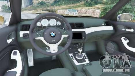 GTA 5 BMW M3 (E46) traseira direita vista lateral