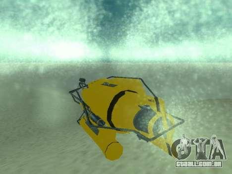 Submersível de GTA V para GTA San Andreas vista traseira