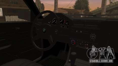 BMW M3 E30 Sedan para GTA San Andreas vista traseira