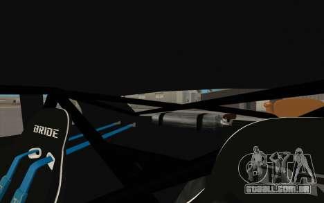 Elegy DRIFT KING GT-1 (Stok wheels) para GTA San Andreas interior