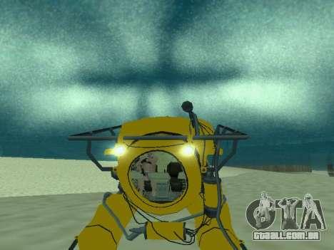 Submersível de GTA V para GTA San Andreas vista direita