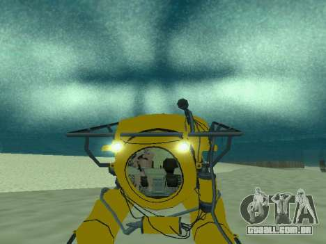 Submersível de GTA V para GTA San Andreas vista inferior