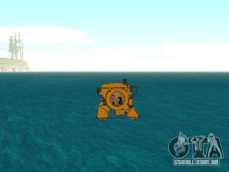 Submersível de GTA V para GTA San Andreas vista superior