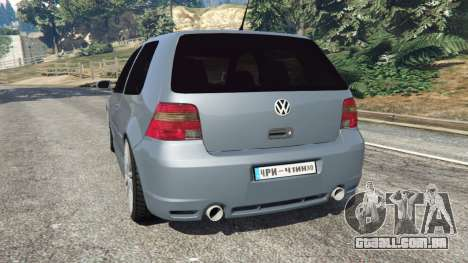 GTA 5 Volkswagen Golf Mk4 R32 traseira vista lateral esquerda
