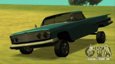 Voodoo El Camino v1 para GTA San Andreas vista superior