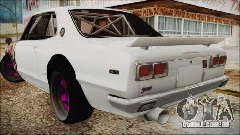 Nissan GT2000 STICKER BOMB para GTA San Andreas esquerda vista