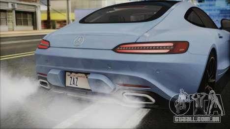 Mercedes-Benz AMG GT 2016 para GTA San Andreas vista traseira