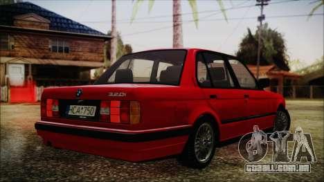 BMW M3 E30 Sedan para GTA San Andreas esquerda vista