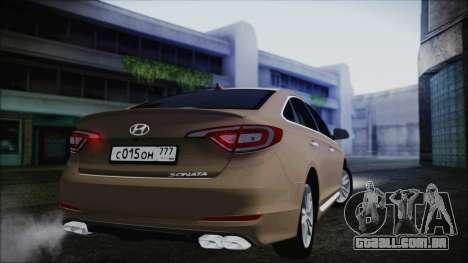 Hyundai Sonata 2015 para GTA San Andreas vista direita