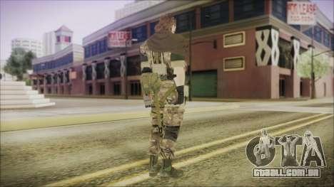 MGSV Phantom Pain Snake Scarf Wetwork para GTA San Andreas terceira tela