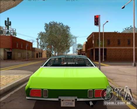 Clover Barracuda para GTA San Andreas vista interior