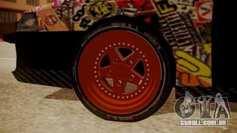 Sultan Full of Stickers para GTA San Andreas traseira esquerda vista