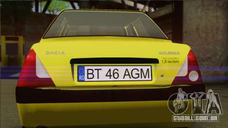 Dacia Solenza Taxi para GTA San Andreas vista traseira