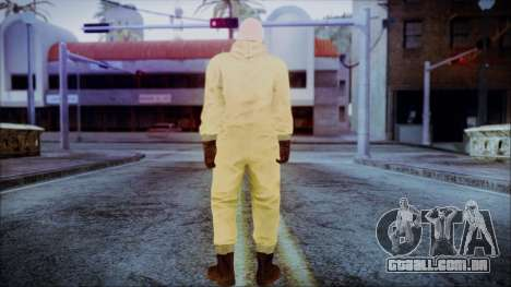 Walter White Breaking Bad Chemsuit para GTA San Andreas terceira tela