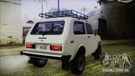 VAZ 2121 Niva 1600 FIV APT para GTA San Andreas traseira esquerda vista