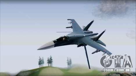 SU-35 Russian Air Force Modern Livery para GTA San Andreas