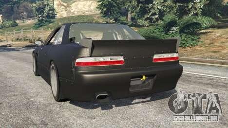 GTA 5 Nissan Silvia S13 v1.2 [without livery] traseira vista lateral esquerda