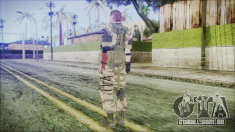 MGSV Phantom Pain Snake Normal Tiger para GTA San Andreas terceira tela