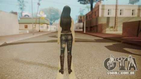 Tifa Black para GTA San Andreas terceira tela