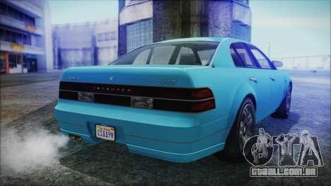 GTA 5 Karin Intruder para GTA San Andreas esquerda vista