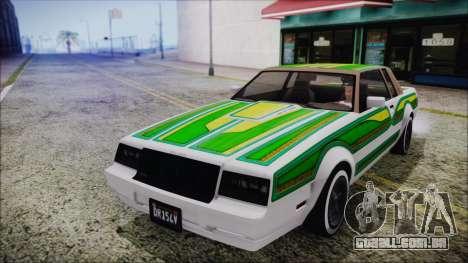 GTA 5 Willard Faction Custom para GTA San Andreas vista interior