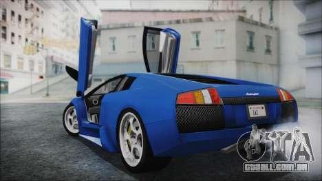 Lamborghini Murcielago 2005 Yuno Gasai HQLM para GTA San Andreas esquerda vista