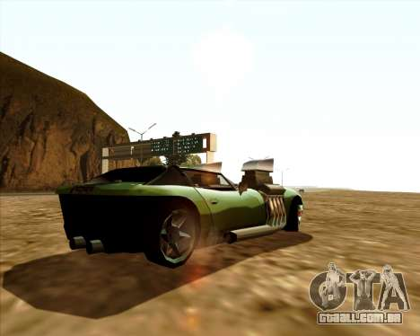 Banshee Twin Mill III Hot Wheels para GTA San Andreas traseira esquerda vista