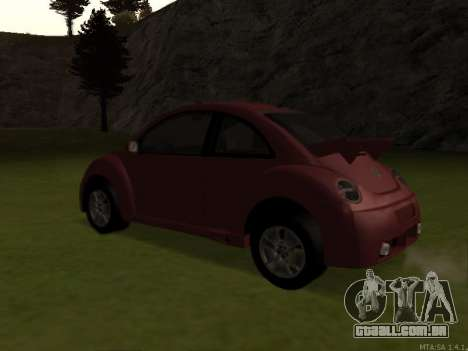 VW New Beetle 2004 Tunable para GTA San Andreas traseira esquerda vista