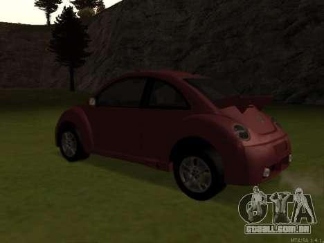VW New Beetle 2004 Tunable para GTA San Andreas traseira esquerda vista