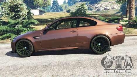 GTA 5 BMW M3 (E92) GTS v0.1 vista lateral esquerda