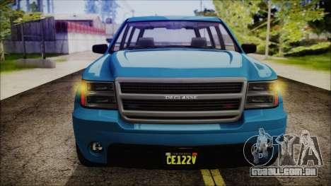 GTA 5 Declasse Granger FIB SUV IVF para GTA San Andreas vista direita
