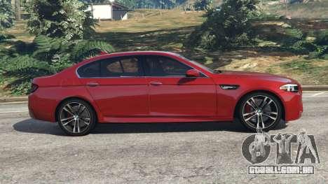 GTA 5 BMW 535i 2012 vista lateral esquerda
