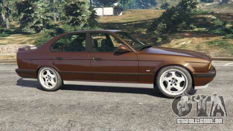 GTA 5 BMW M5 (E34) 1991 v2.0 vista lateral esquerda