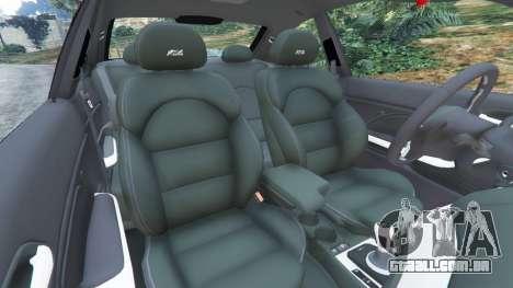 GTA 5 BMW M3 (E46) vista lateral direita