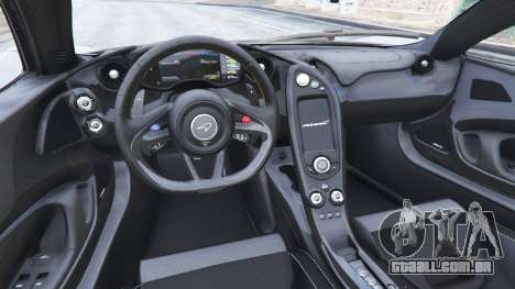 GTA 5 McLaren P1 2014 v1.5 traseira direita vista lateral